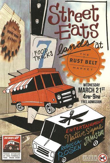 Street Eats comes to Ferndale's Rust Belt Market 3/21/2012 I recommend going and looking through the market while you're there. It's really a great place with such a variety of wonderful and creative local artists. 22801 Woodward Avenue  Ferndale, MI 48220