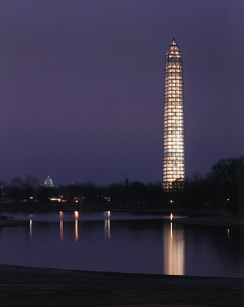 Michael Graves's scaffolding for the Washington Monument.