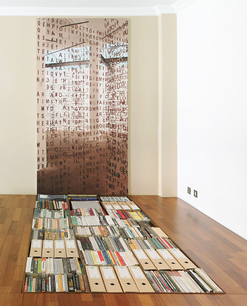 nevver:  Book Shelf in the Floor  Daft, but I like it