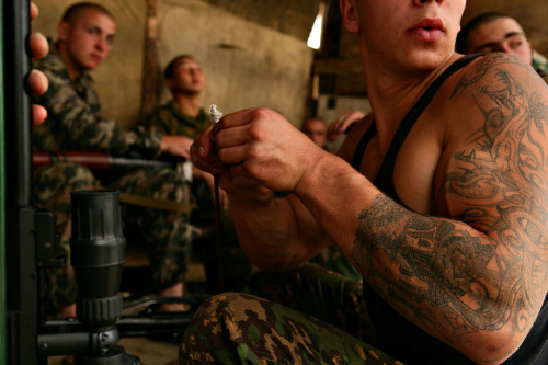 bacardibitch:  Love men in uniform ;)