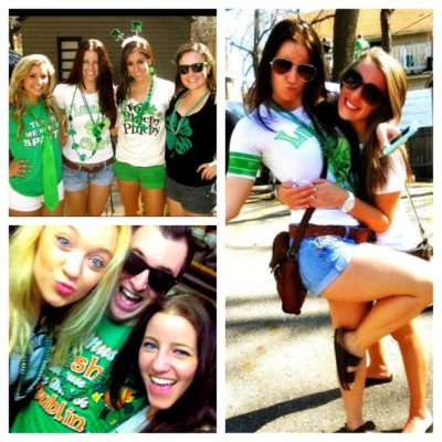 St Pattys Day Fun! God I love my school #michiganstate #stpatricksday #yolo  (Taken with instagram)