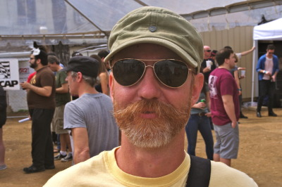 #SXSW Hair - This beard and long mustache combo caught our attention. Creative facial hair was a recurring theme throughout SXSW.