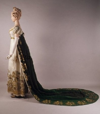 Court Dress 1810, French I apologize I dont recall where this is from. I want to say Kent State but I really can't remember.