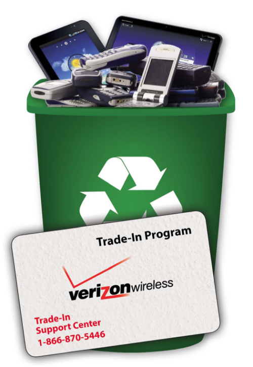 Verizon Wireless Trade-In Program Goes Green With Electronic Gift Cards  Today, we're excited to introduce the availability of electronic gift cards to the Trade-In Program. Now customers can immediately take advantage of credit earned through trading in their wireless devices.