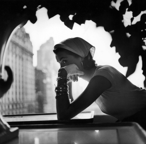 White Gloved Thoughts on a Thursday   Fashion photo by Gordon Parks for Lilly Daché, 1952 via via  We Heart Vintage