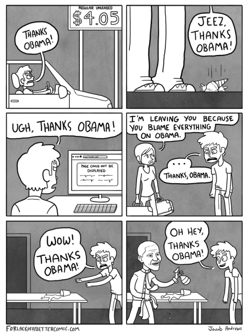 forlackofabettercomic:  THANKS OBAMA