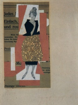 archives-dada:  Kurt Schwitters,Figurine, 1921, collage, 17,3 x 9,2 cm, private collection.