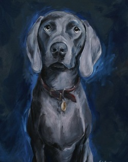 Meet Otis.  This painting is one of my all time favorite pieces.