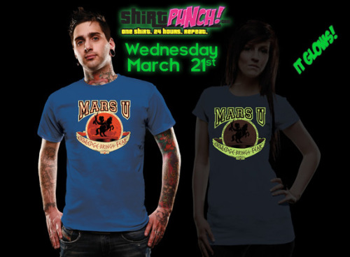 Wednesday »March 21« on www.shirtpunch.com there will another give-away of course