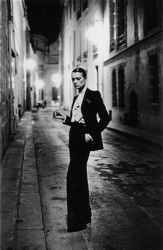 Would love this print framed on the wall. Le Smoking Taken by Helmut Newton Designed by Yves Saint Laurent