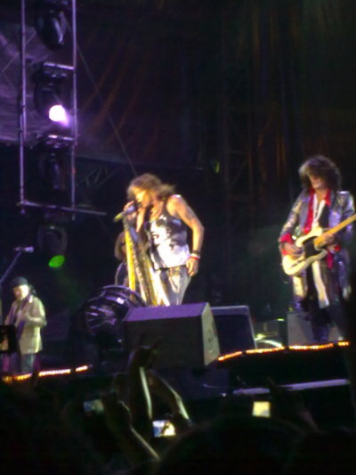 "Steven Tyler & Joe Perry at ""Estadio Universitario"" in San Nicolás, Nuevo León, México…"