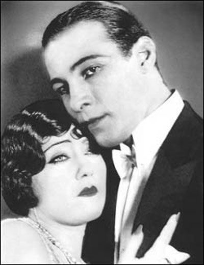 Gloria Swanson and Rudolph Valentino