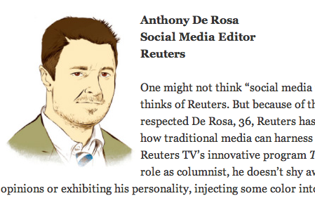 anthonyderosa:  Ad Week The Young Influentials : Ad Week picks 20 under 40 who are wicked smart and are rebooting your world.  This guy is awesome. One day, though, it would be really super great if there would be more than 5 women on these lists.