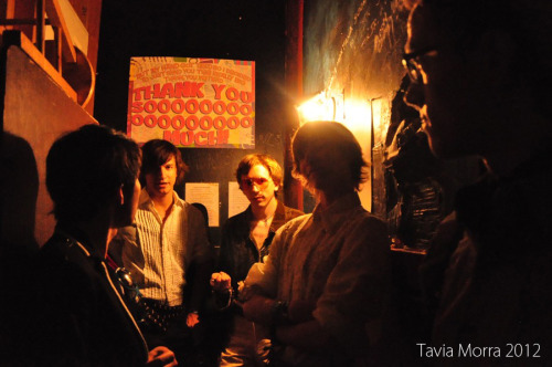 seeyoutmorra:  Photos from just before the show at the Velveeta Room! Many thanks to Natalie, Kalibration, and Squid who were our videographers and photographers during the show! You guys rock!