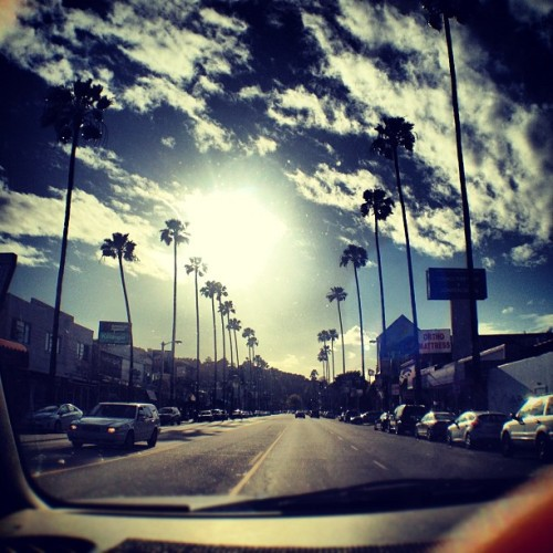 Headed straight into the sun. #VenturaBlvd, #StudioCity, #California.   (Taken with instagram)