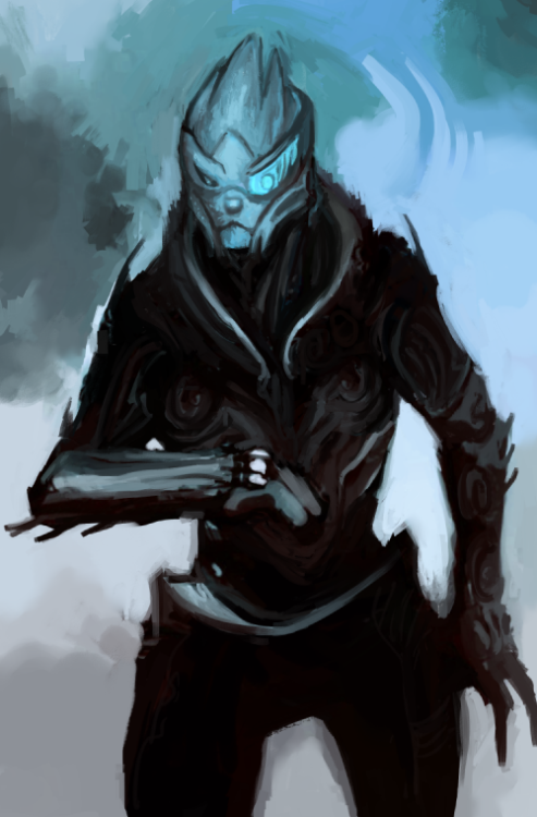 pleg:  and then I drew this… Im bad at drawing turians…
