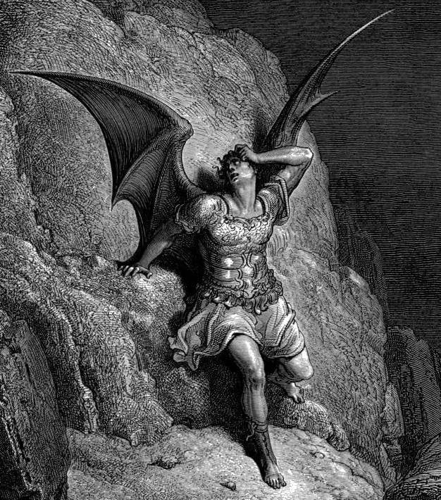 Gustave Doré, Depiction of Satan from John Milton's Paradise Lost, c. 1866