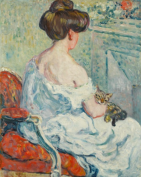 Louis Valtat Woman with Cat 1903