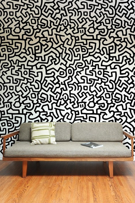 Add to cart: I know Marsha wants this for the office - Keith Haring Pattern Wall Tiles. More.