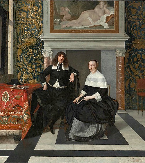 Eglon van der Neer Man and Woman in an Interior 1665-67