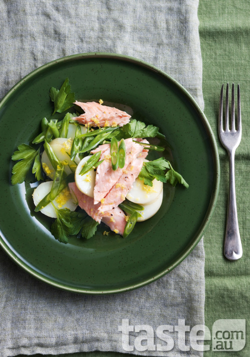 taste-com-au:  This zesty trout salad has green beans for crunch and potatoes to fill you up. (Photography by Mark O'Meara; Recipe by Kerrie Ray)