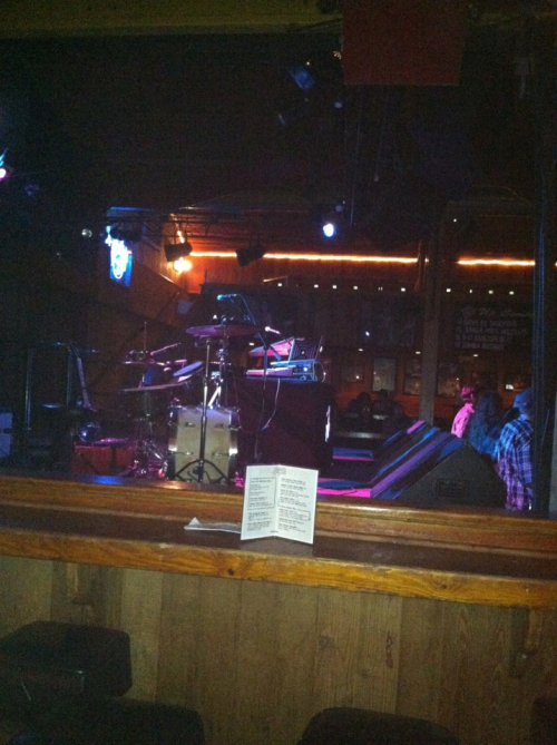 Stage left at Belly Up Tavern before the show started last night. Inspired Flight, Metermaids, and Sage Francis tore shit up. Sage only makes it out here every once in a while these days and every show never ceases to blow me away.
