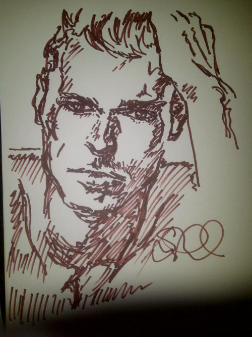 Late night sketches, courtesy of GQ and Giorgio Armani.