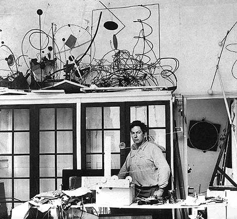 Alexander Calder in his Paris studio, 1931