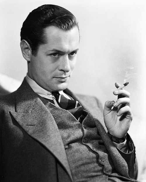 "deforest:  Because He Can | part two › Robert Montgomery, widely considered to be the best-dressed man in Hollywood, made no secret of his superior taste. He would often taunt and chastise his close friend, actor Chester Morris, for wearing ""loud sweaters"" and ""hectic ties."""