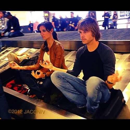 onakasuitana:  #ncisla#danielaruah#ericcolsen - @jacqniv | Webstagram   I would just love to know how these two hatch up their plans for pictures like these.  That had to be a hilarious conversation to overhear.
