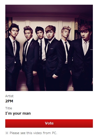 lets vote for 2PM now! BEST GROUP VIDEO!!!