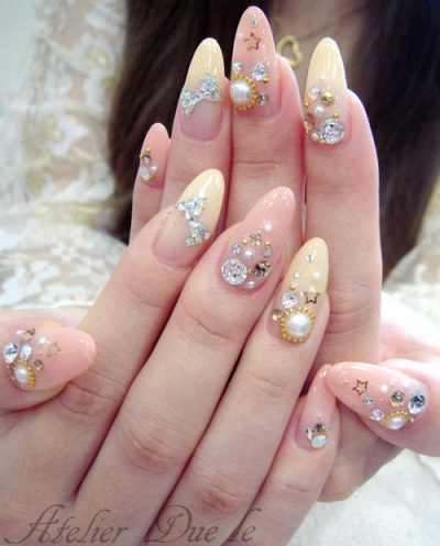 teenmermaid:  whats the deal with these cute ass rounded nails? are they acrylic or what? where can i get some?