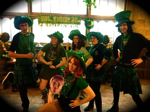 trulyswag:  Whimsic Alley Staff all decked out for Saint Patty's Day!!!