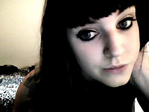 Picture of my birthday makeup from Saturday. More pics later, as soon as I:a) Find my camerab) Find the plug that goes into the computer