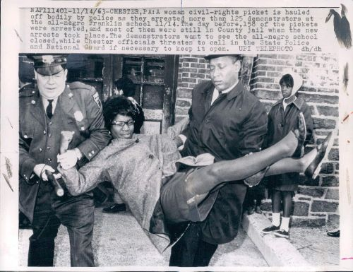 "(via CIVIL RIGHTS COLLECTION: ""Police Carry Off Civil Rights Protester"" (1963) « THESE AMERICANS 