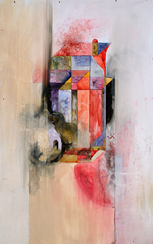 jacobvanloon:  Take | Watercolor, acrylic and graphite on panel | 12x16 | 2011Jacob van Loon