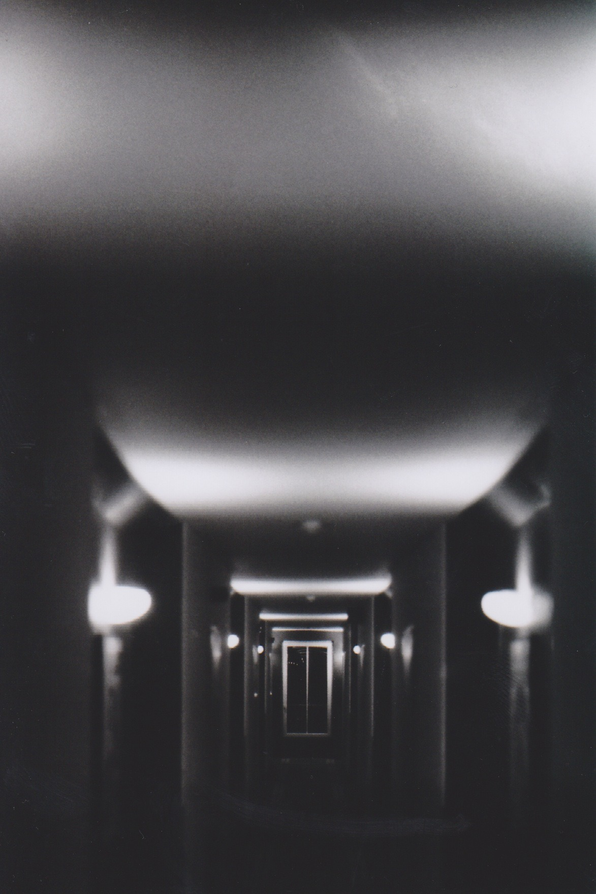 experimentingfilm:  Passage way in the hotel.