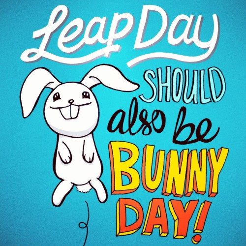 Illustype 032 — Leap day should also be bunny day!