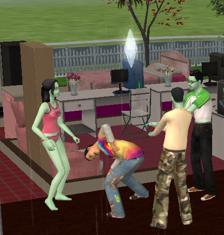 fuckyeahsimsmeme:  Group probe imminent!  … is that is that sims hate speech? omg