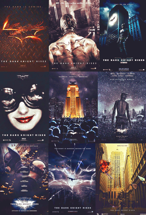 The Dark Knight Rises Fanmade Posters (credit to their rightful owners)