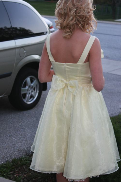 The back of my homecoming dress…