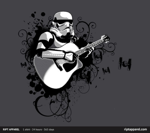 "RIPT Apparel: ""Strum Trooper"" by Chicken Sashimi."