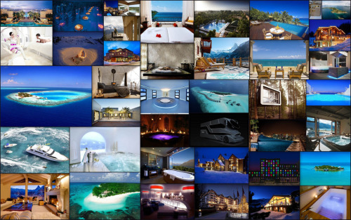 Some of the accommodations posted on Luxury Accommodations Blog