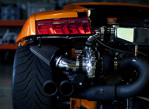 visualcocaine:  Twin Turbo Close up.