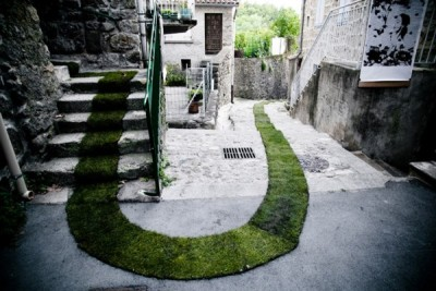 Green carpet by French Gaëlle Villedary