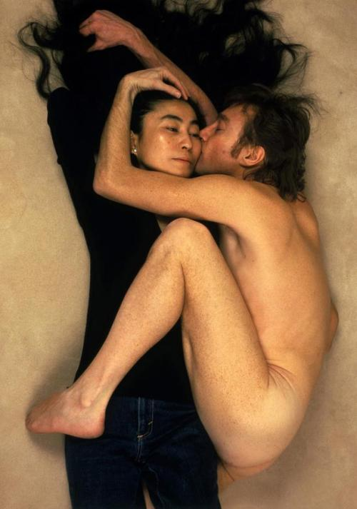 "On December 8, 1980, Annie Leibovitz had a photo shoot with John Lennon for Rolling Stone, promising him that he would make the cover. She had initially tried to get a picture with just Lennon alone, which is what Rolling Stone wanted, but Lennon insisted that both he and Yoko Ono be on the cover. Leibovitz had John remove his clothes and curl up next to Yoko. She recalls, ""What is interesting is she said she'd take her top off and I said, 'Leave everything on' — not really preconceiving the picture at all. Then he curled up next to her and it was very, very strong. You couldn't help but feel that he was cold and he looked like he was clinging on to her. I think it was amazing to look at the first Polaroid and they were both very excited. John said, 'You've captured our relationship exactly. Promise me it'll be on the cover.' I looked him in the eye and we shook on it."" Leibovitz was the last person to professionally photograph Lennon — he was shot and killed five hours after this photograph was taken."