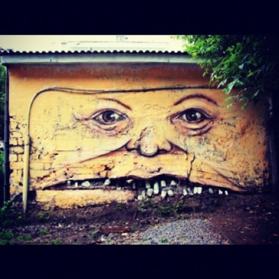 Uhh This Is Gonna Give Me Nightmares ::: #graffiti #art #faces  (Taken with instagram)