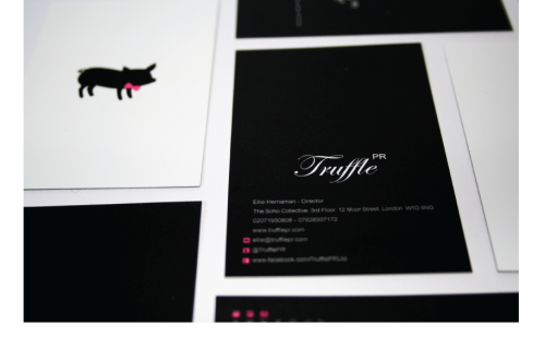 Some business cards I designed for the lovely Truffle PR