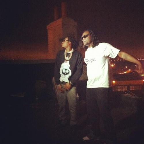 Tay & Nycist up on the rooftop at COBRA SUN shooting the DRUMS SPAZZN video with Mark Scherel and David Giordano!