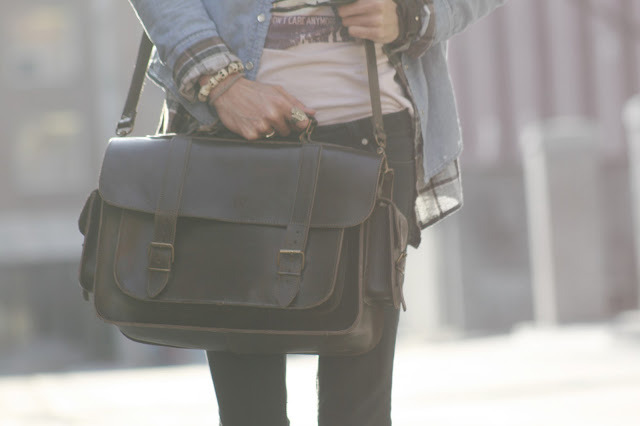 Vintage Style Leather Satchel Photo by Bobby Raffin